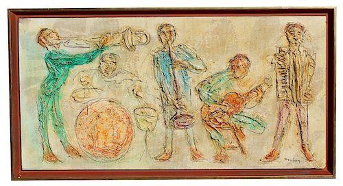 "Roy Steinberg, (American 20th C.) ""Musicians"""