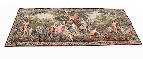 """Large Belgian Tapestry, """"Sacrifice to Cybele"""""""