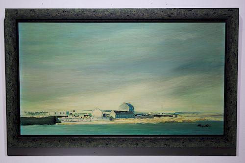 1967 Aran Ireland Coastal Painting, Signed