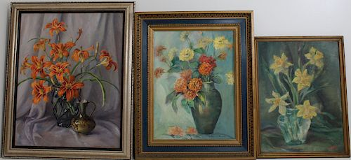 (3) Signed 20th C. Still Life Paintings