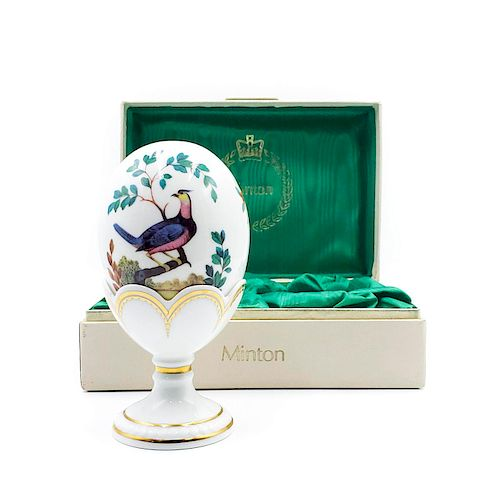 ROYAL DOULTON MINTON EGG WITH STAND