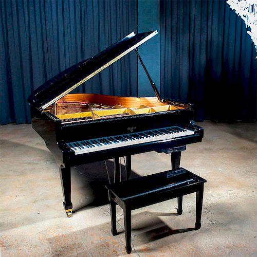 WEBER WG-175 BABY GRAND EBONIZED PIANO, PLAYER MODEL