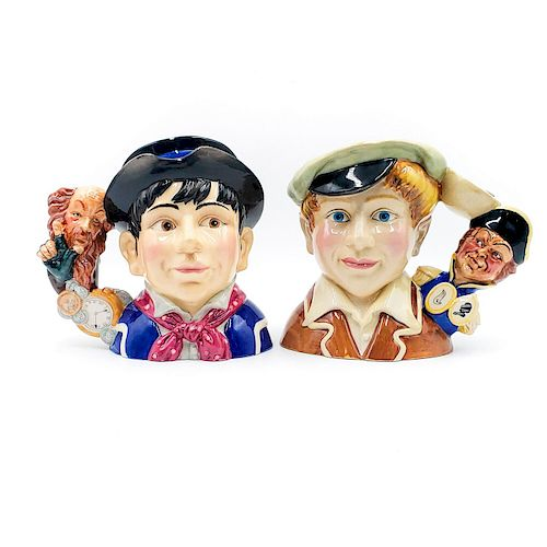 1 SM AND 1 MID DOULTON CHARACTER JUGS; DICKENS' SERIES