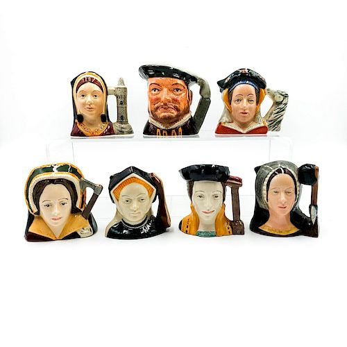7 SM DOULTON CHARACTER JUGS KING HENRY VIII AND 6 WIVES