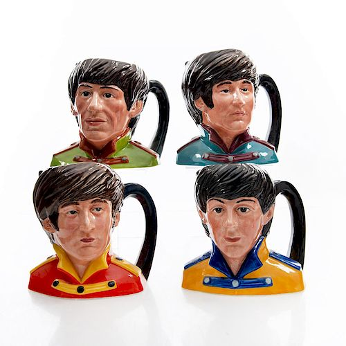4 MID DOULTON CHARACTER JUGS, THE BEATLES