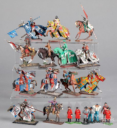 Russian painted metal scale model soldiers