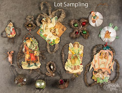 Group of wire wrap Christmas ornaments
