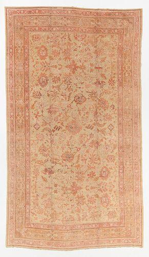 Antique Oushak Rug, Turkey: 11'1'' x 18'10''