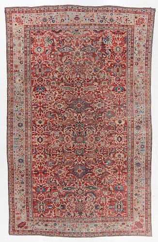 Antique Palace Size Sultanabad Rug, Persia: 14'1'' x 22'2''