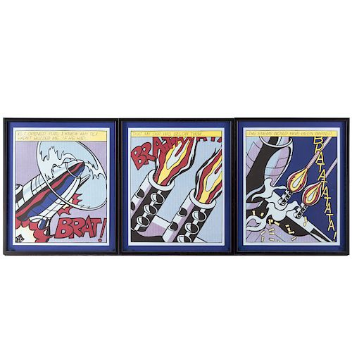 """After Roy Lichtenstein. """"As I Opened Fire"""""""