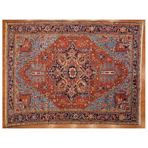 Semi-Antique Heriz Carpet, Persia, 10 x 13.1