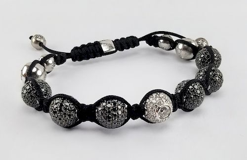 Shamballa 18K Gold '13' Bead Bracelet