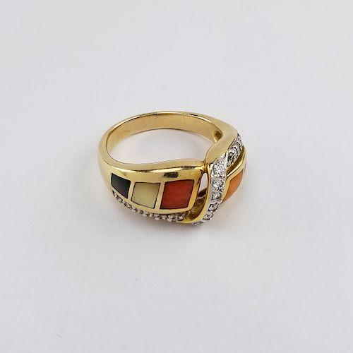14K Gold Asch Grossbardt Diamond Ring