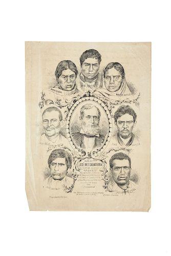 Litografía Villasana y J. Blancarte. El Sr. Don José Inés Salvatierra Víctima de sus Plagiarios. México: Propiedad del Editor.