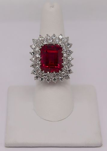 JEWELRY. Signed 14kt Gold, Diamond, and Rubelite