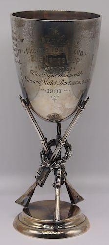 SILVER. English Silver Rifle Presentation Cup.