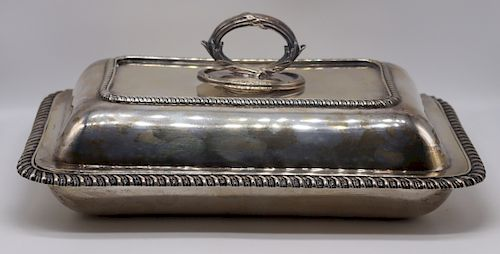 SILVER. Late 19th English Silver Covered Vegetable
