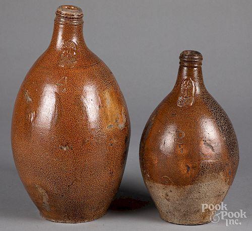 Two German stoneware bellarmine jugs