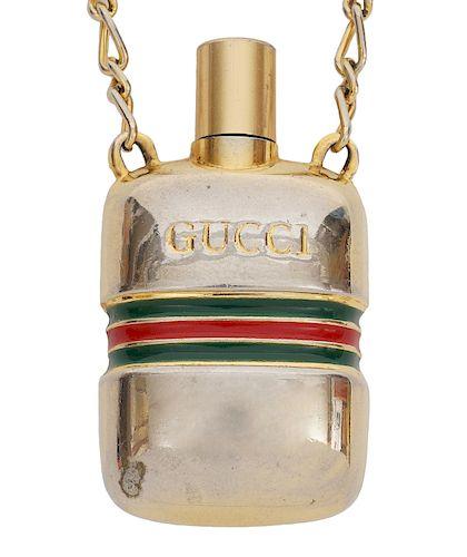 Gucci Vintage Perfume Bottle Necklace
