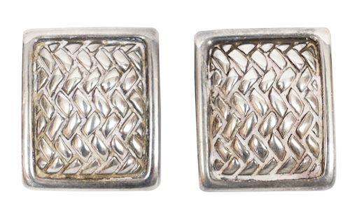 Kieselstein-Cord Sterling Herringbone Earrings