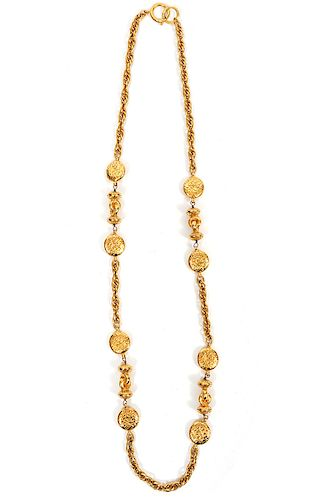 """Chanel Gold Tone Chain Necklace CHANEL Charms 34"""""""
