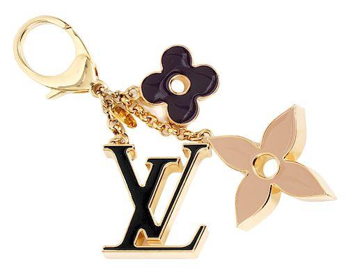 Louis Vuitton Bag Charm Fleur De Monogram