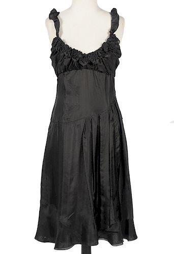 Celine Little Black Dress Silk Size 38