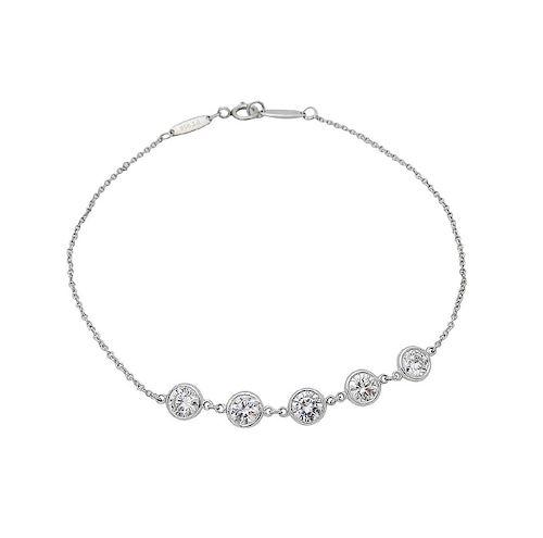 Tiffany & Co Elsa Peretti Plat Diamond By Yard Bracelet