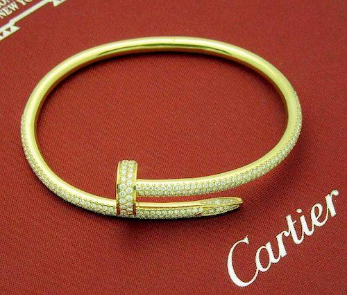 CARTIER JUSTE UN CLOU YELLOW GOLD AND DIAMONDS BRACELET