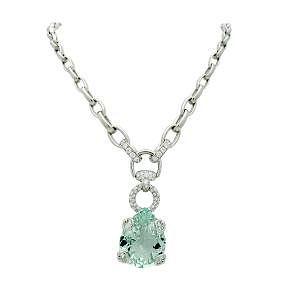 Gucci Horsebit Green Beryl Diamond Necklace in 18k