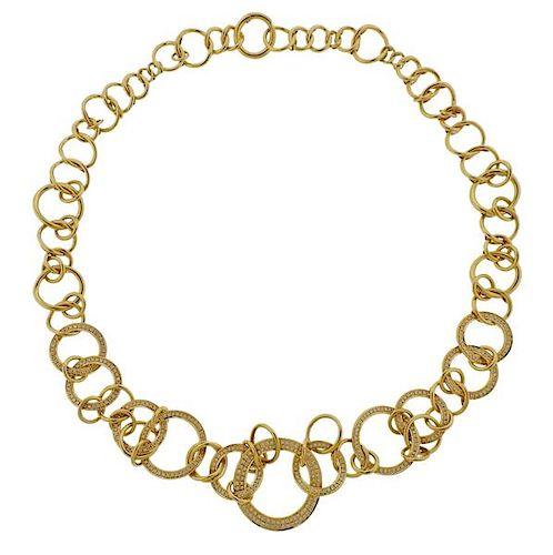 Di Modolo Tempia 18k Gold Diamond Necklace
