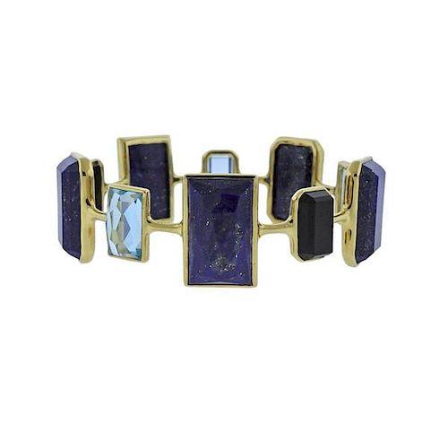 Ippolita Rock Candy Mystere Lapis Quartz 18k Gold Bracelet