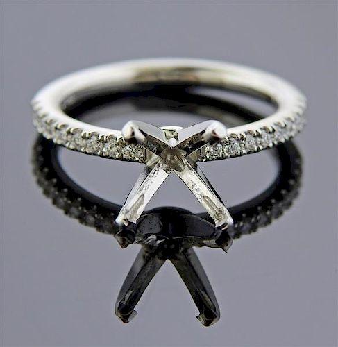 Platinum Diamond Engagement Ring Mounting