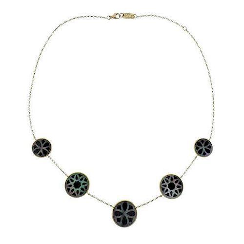 Ippolita Phantom 18k Gold Onyx Shell Necklace