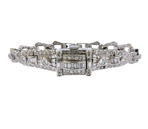 Omega Platinum Diamond Lady's Watch