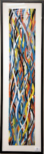 """Sol LeWitt (1928 - 2007), """"Wavy Brushstrokes"""", gouache on paper, signed in pencil lower right and signed top left upside down S.LeWitt 95, Sol LeWitt"""
