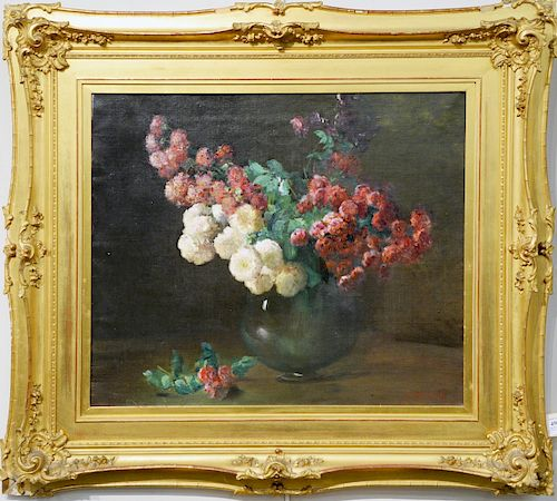 Charles Ethan Porter (1847 - 1923), Rambling Roses, oil on canvas, signed lower right C.E. Porter, New Britain Museum of American Art label on back, C