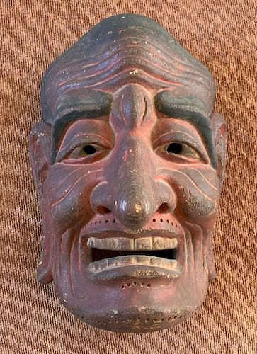 Gigaku Mask, Edo Period or Earlier