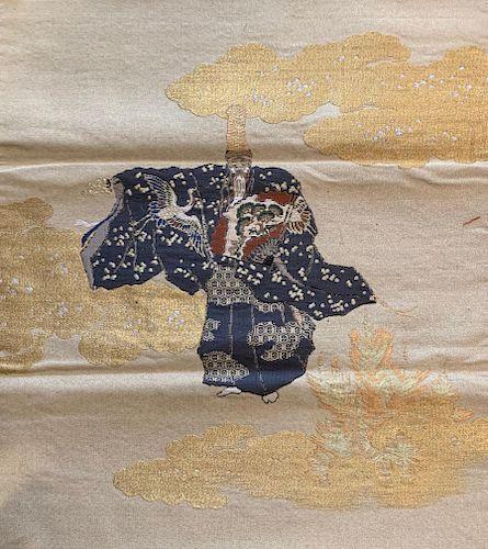 Embroidered Fukusa of Okina Dancer, Late Edo