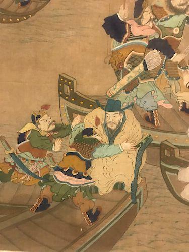 Korean 4 Panel Screen, Joseon Dynasty