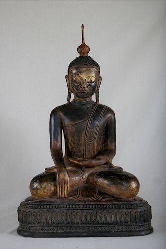 Buddha, Dry Lacquer, Burma, 18th Century