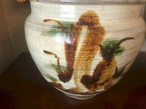 Takeo Karatsu Bean Jar, Edo Period