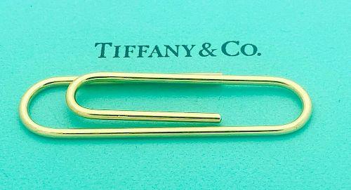 """Tiffany & Company 14k Yellow Gold 2"""" Money Clip"""