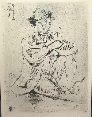 Portrait du Peintre A. Guillaumin au Pendu, Etching