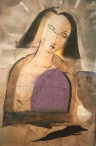 Pigmentation on Cork, The Idol, by Jamali, c. 1988