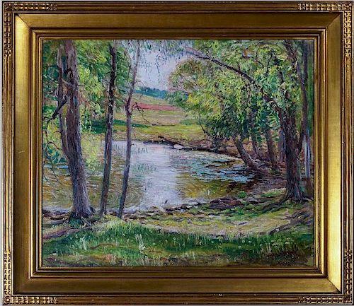 Woodland Scene, Oil on Canvas, by Joseph Kleitsch
