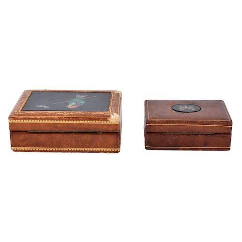 Antique Pietra Dura Boxes