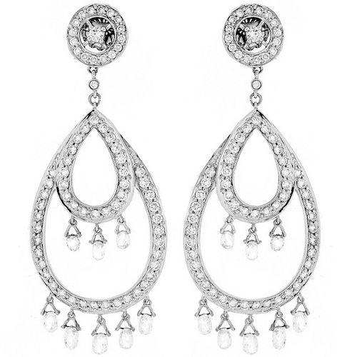 13.50ct TW Diamond and 18K Earrings