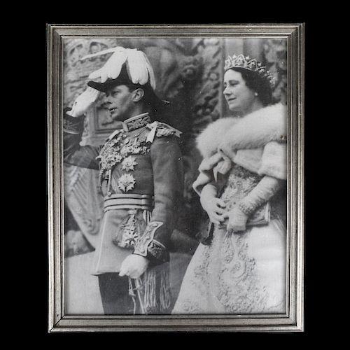 King George VI and Queen Elizabeth Print