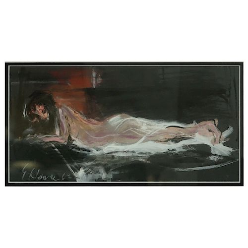 Gouache On Paper Reclining Nude